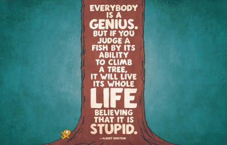 Albert Einstein fish in the tree quote