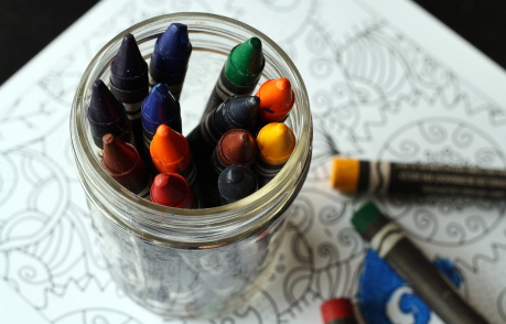 Crayons and colouring