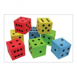 Dice - Silent dice dot Pack of 8