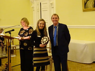 Nikita Sturgess prize winner with Gavin Reid