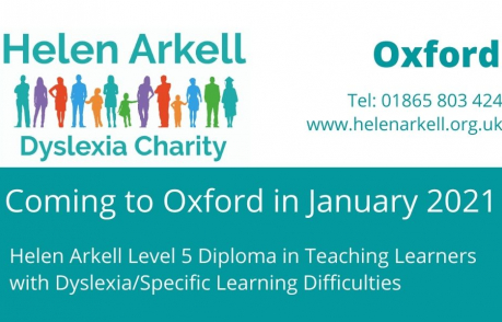Helen Arkell Level 5 Diploma Coming To Oxford