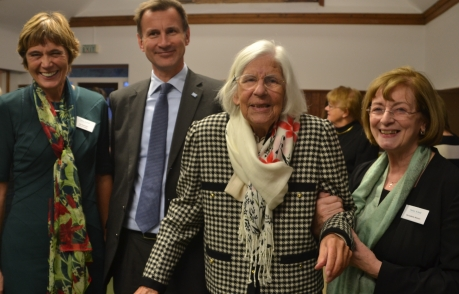 Helen Arkell and Jeremy Hunt