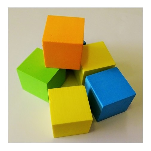 Foam Cubes - Multicoloured Pack of 25