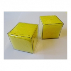 Dice - Small yellow foam pocket Pair