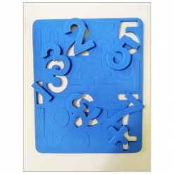 Magnetic Number Sheet Blue