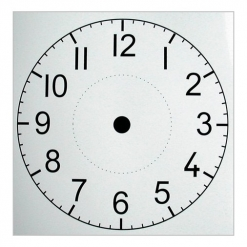 Clock Plastic Face