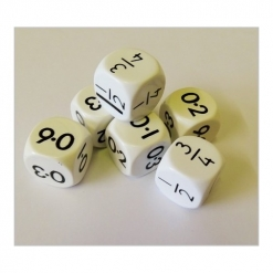 Dice - 5 numbered Fraction Decimal Pack of 10