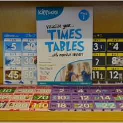 Kippson Times Tables Stickers - Pack 1