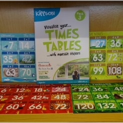 Kippson Times Tables Stickers - Pack 3
