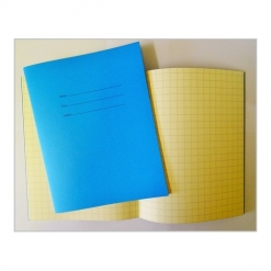 Exercise book - Squares Blue