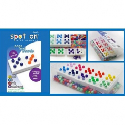 Spot on with Numbers - Pegs & Boards