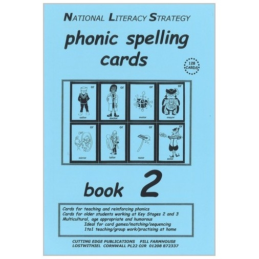 Phonic Spelling Cards - Book 2