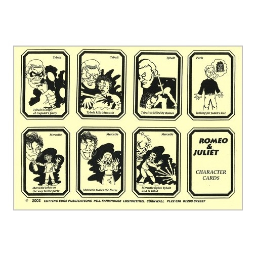 Retold Text Series - Romeo and Juliet - Game Cards