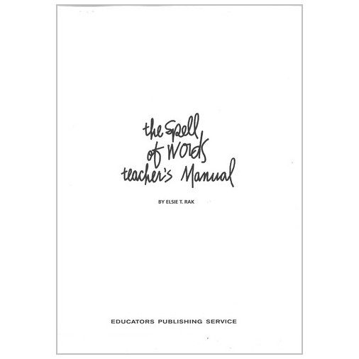 The Spell of Words - Teacher's Manual