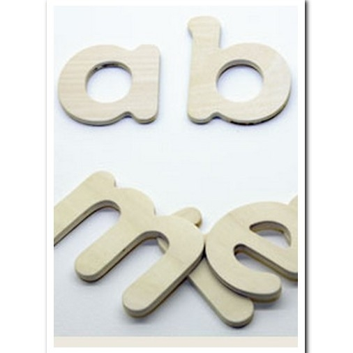 Wooden letter template: Lower case