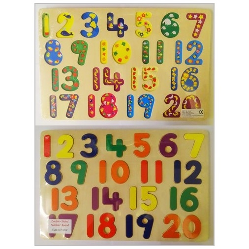 Double Sided Wooden Number Puzzle